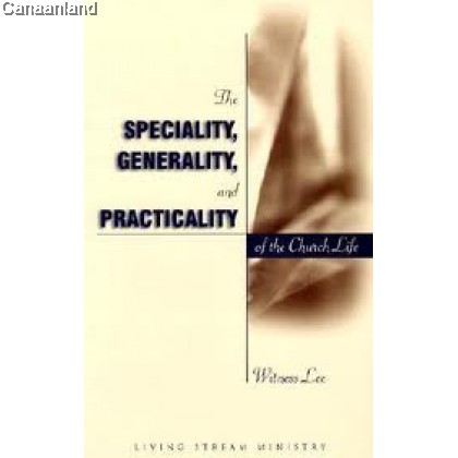 The Specialty, Generality (bk)