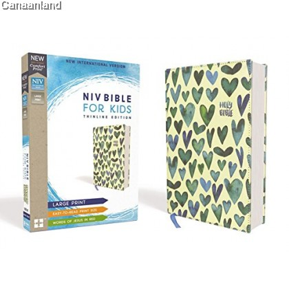 NIV - Bible for Kids, Large Print, Cloth over Board Hardcover, Teal