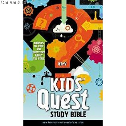 NIrV - Kids' Quest Study Bible, Hardcover: Answers to over 500 Questions about the Bible