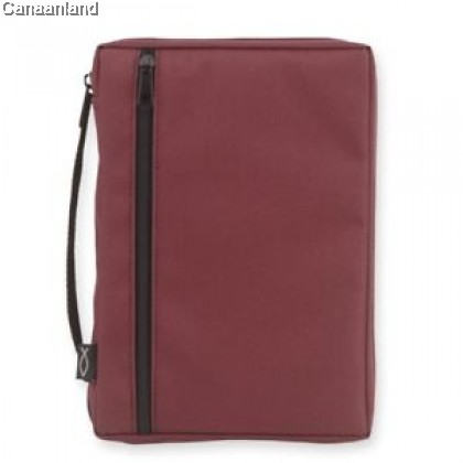 Cover - Canvas, Burgundy with Fish, L
