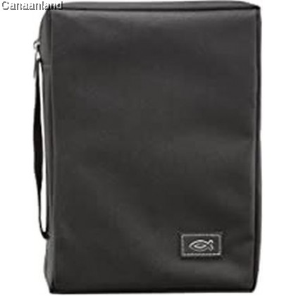 Cover - Polyester, Black with Fish, XS