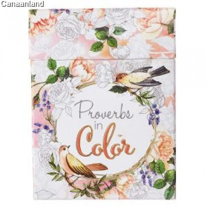 Boxed Coloring Cards - Proverbs in Color