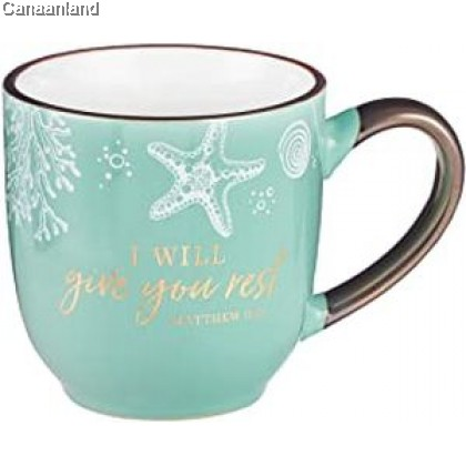 Coffee Mug - Give You Rest, Matthew 11:2