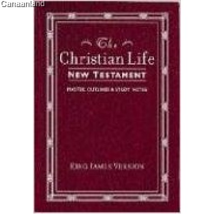 KJV - The Christian Life New Testament: With Master Outlines and Study Notes, Imitation Leather