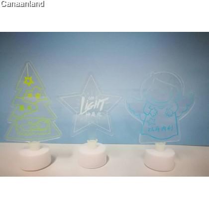 NS - Christmas Table LED Light Lamp 圣诞节夜光亚克力USB小夜灯. 3D卧室床头灯. 家居饰品
