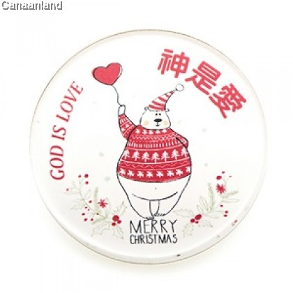 NS - Excellent Christmas Acrylic Badge 亚克力胸章徽章. 营会礼品.