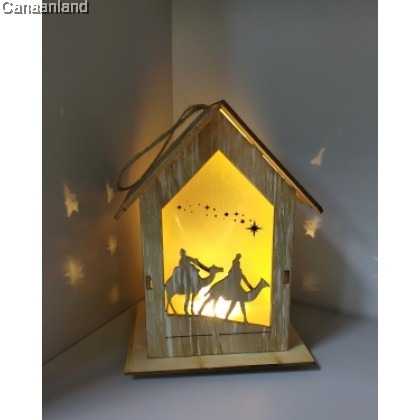 GAT – LED Wood Nativity Crib