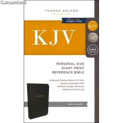 KJV - Reference, Personal GP, Black, Imitation Leather