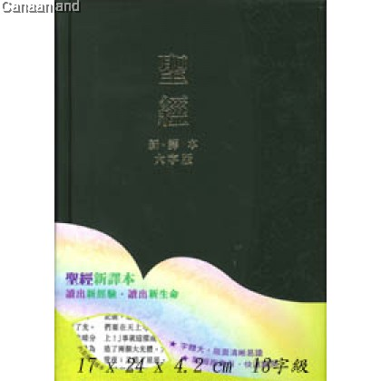 CNV - Traditional, Large Print, Hardcover, Black, Index  聖經-大字版 新譯本. 繁體加大裝.硬面.神字版 黑色精裝白邊連姆指索引