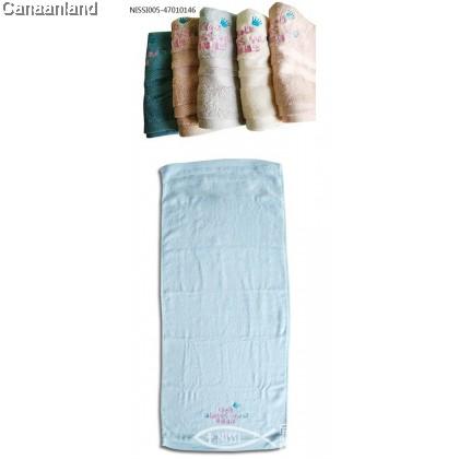 NS - 47010146 Long Bamboo Fiber Towel- God Bless You  竹纤维长毛巾-神赐福你 (4色) 35*76cm