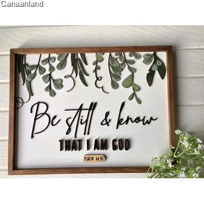 Joshua Plaque -  Be Still and Know (S) (BlessedBe)