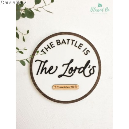 Ruthie Plaque - Battle is the Lord's (BlessedBe)