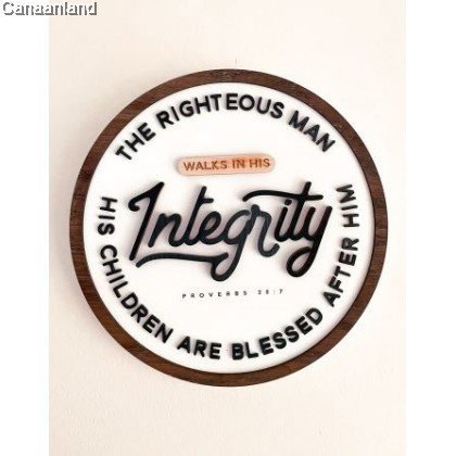 Ruthie Plaque - Walk in Integrity (BlessedBe)