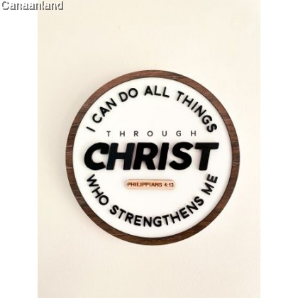 Ruthie Plaque - I Can Do All Things through Christ (BlessedBe)