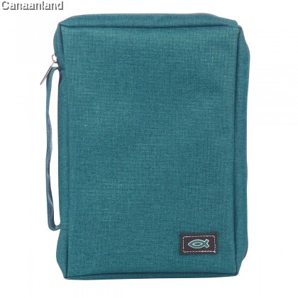 Cover - Poly-Canvas, Teal with Fish, S