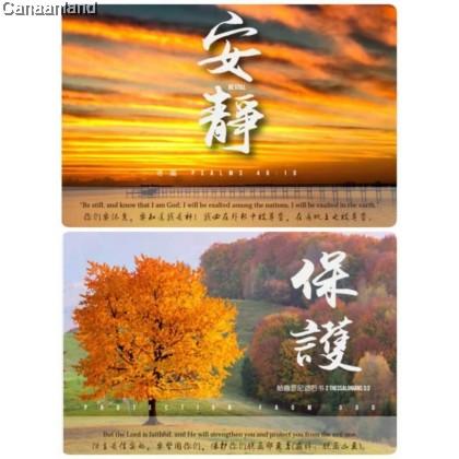 2022 Desktop Calendar: Inspirational Theme, Bilingual Chinese/English 蓝天美术 – 2022心灵台历 (中/英)