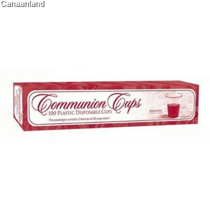 Communion Cups: Plastic - Box of 100